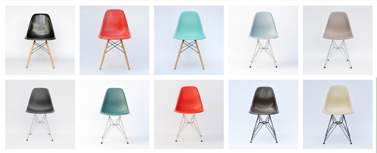 Eames Plastic Side Chairs by Vitra