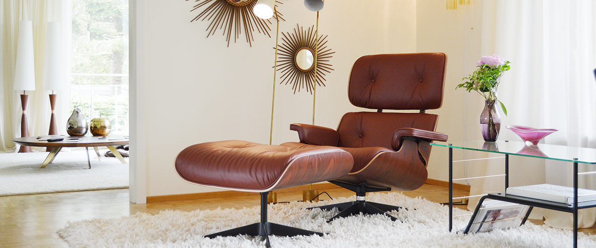 Vitra Eames Lounge Chair Brandy