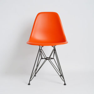 MidModern Vitra | Eames Plastic Side Chair - DSR Poppy Red