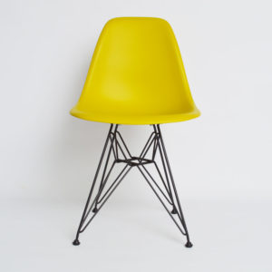 MidModern Vitra Eames Plastic Side Chair DSR - Senfgelb Outdoor (Neue Höhe)
