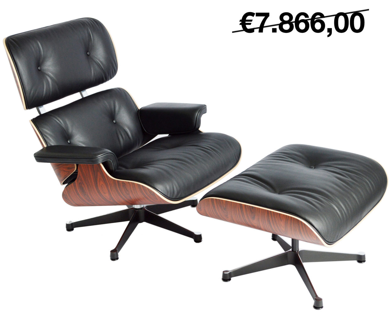 vitra eames lounge chair ottoman palisander. Black Bedroom Furniture Sets. Home Design Ideas