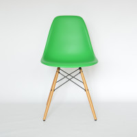 MidModern Vitra Eames Plastic Side Chair DSW - Classic Green (Neue Sitzhöhe)