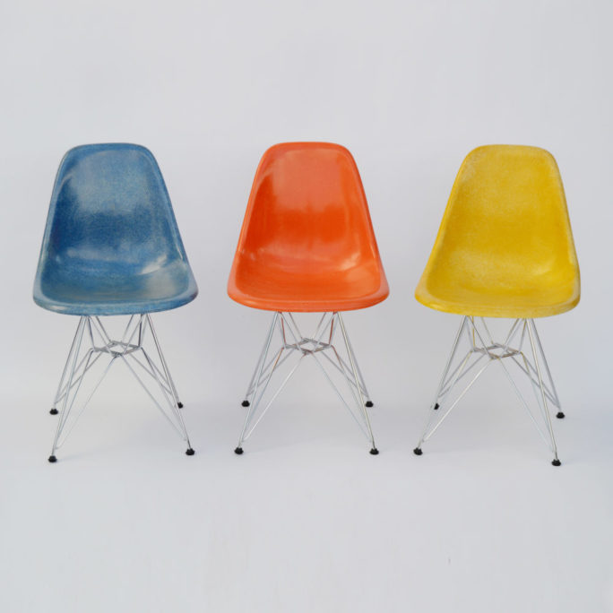MidModern Vintage Set of Eames Fiberglass Side Chair - DSR by Vitra & Herman Miller