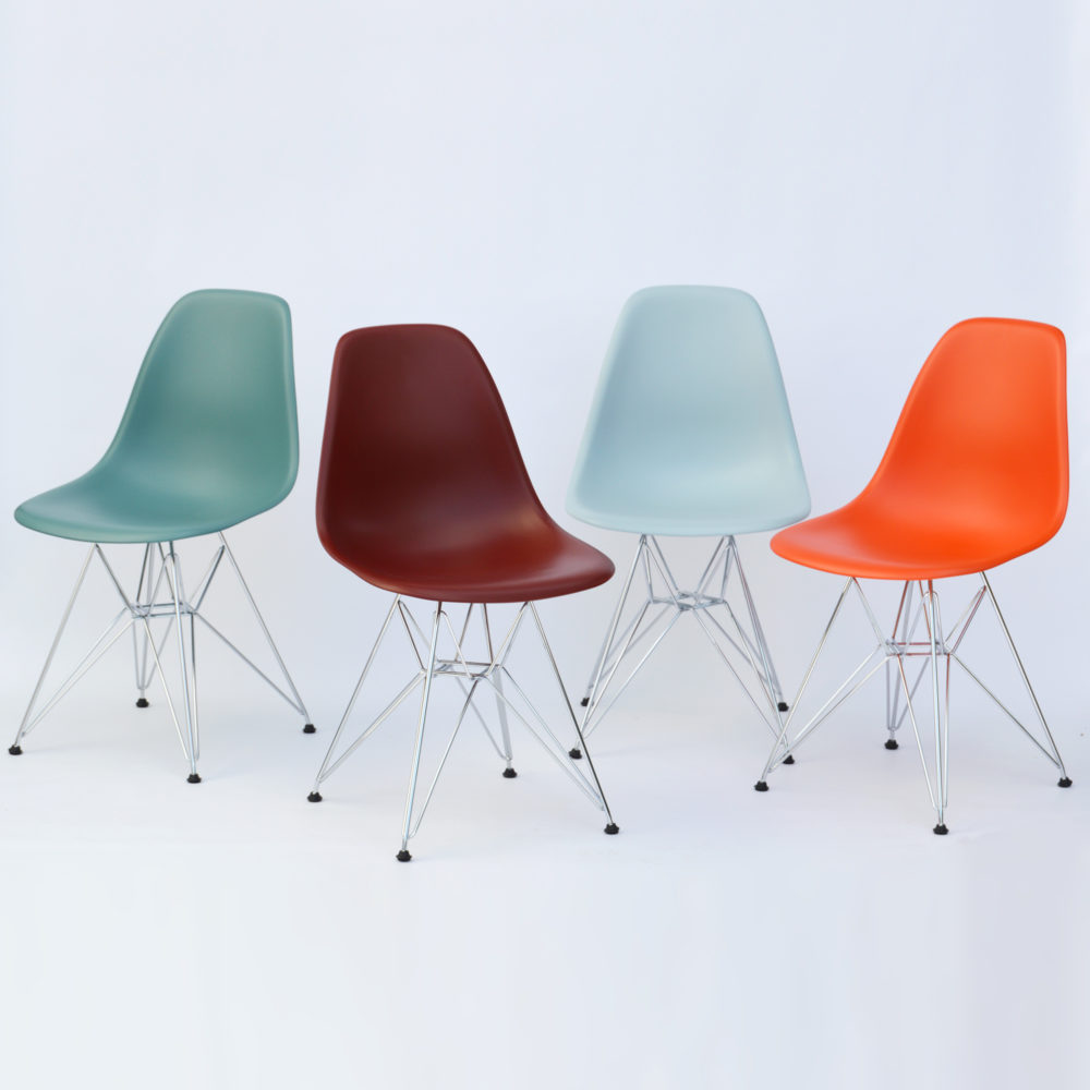 Vitra Eames Plastic Side Chair DSR Poppy Red (Neue Höhe)