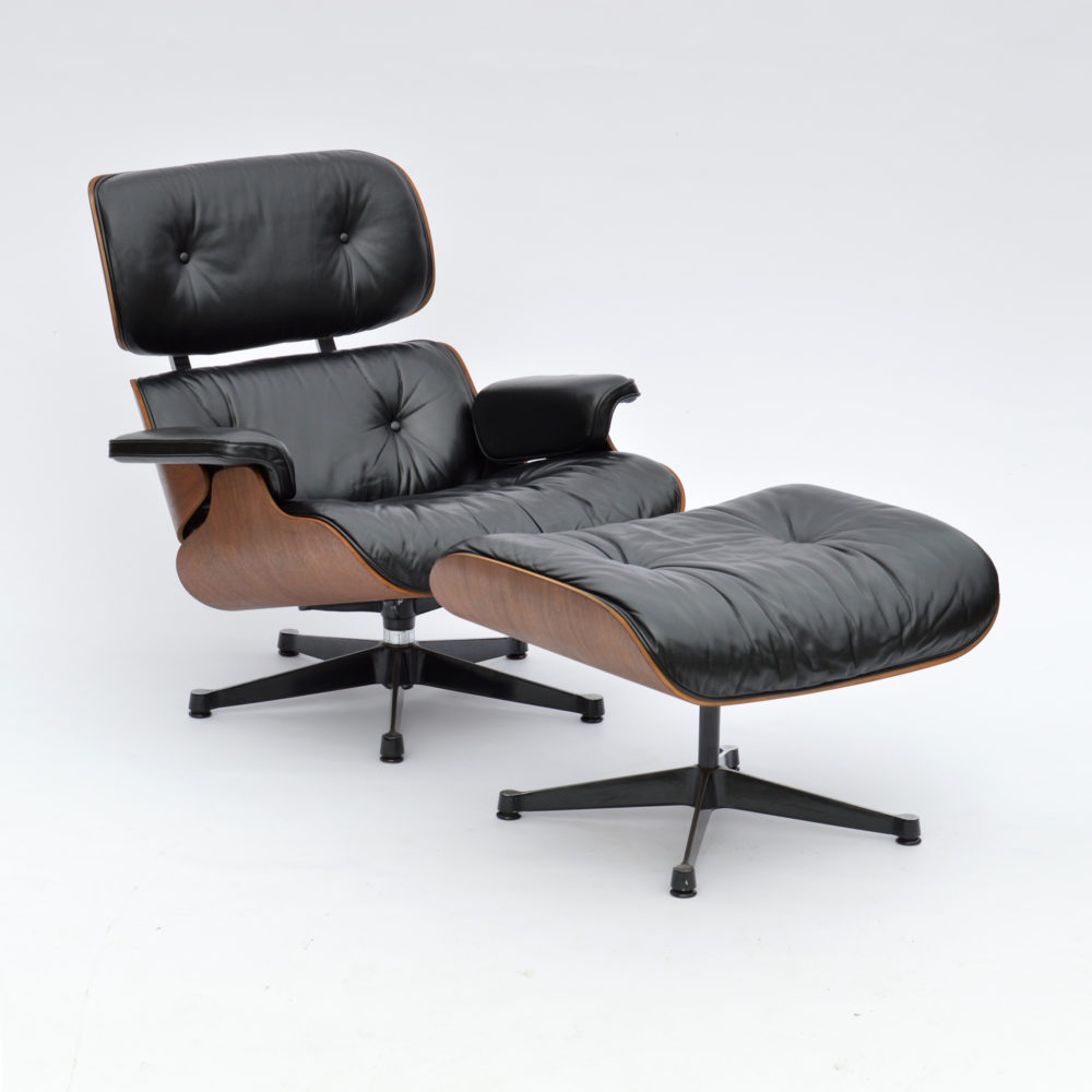 MidModern Vintage Eames Lounge Chair & Ottoman Palisander by Vitra