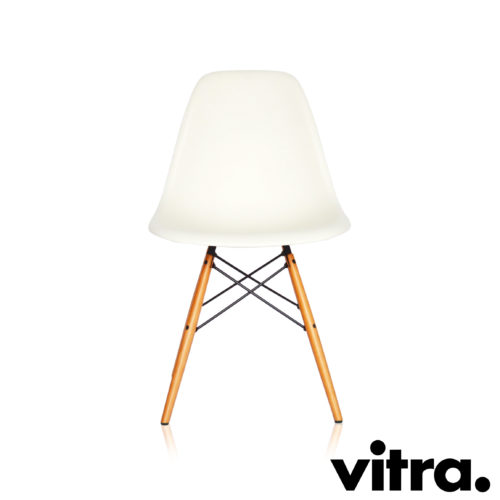 MidModern Vitra Eames Side Chair DSW - Weiss (Neue Höhe)