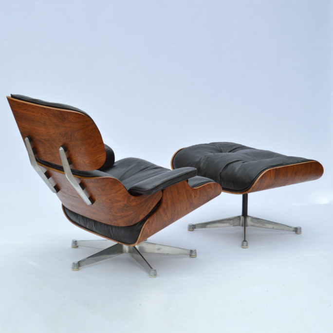 MidModern Vintage Eames Lounge Chair & Ottoman Palisander 1958 by ICF
