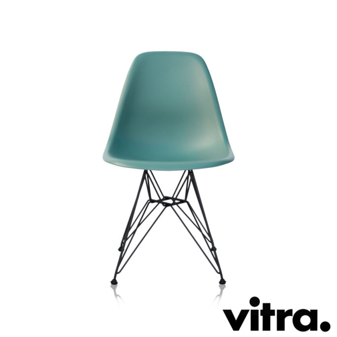 MidModern Vitra Eames Plastic Side Chair DSR - Ocean (outdoor)