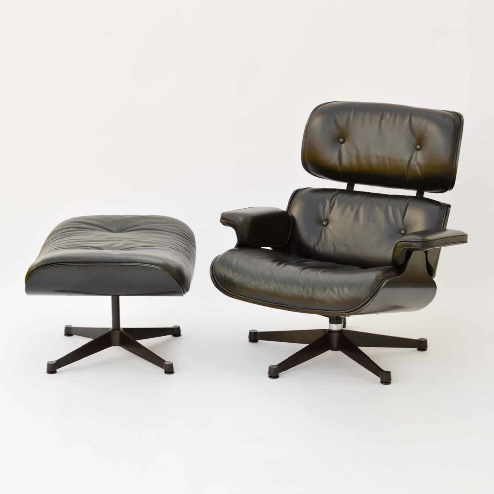 Vitra Eames Lounge Chair Black Cheaper Used In Munich