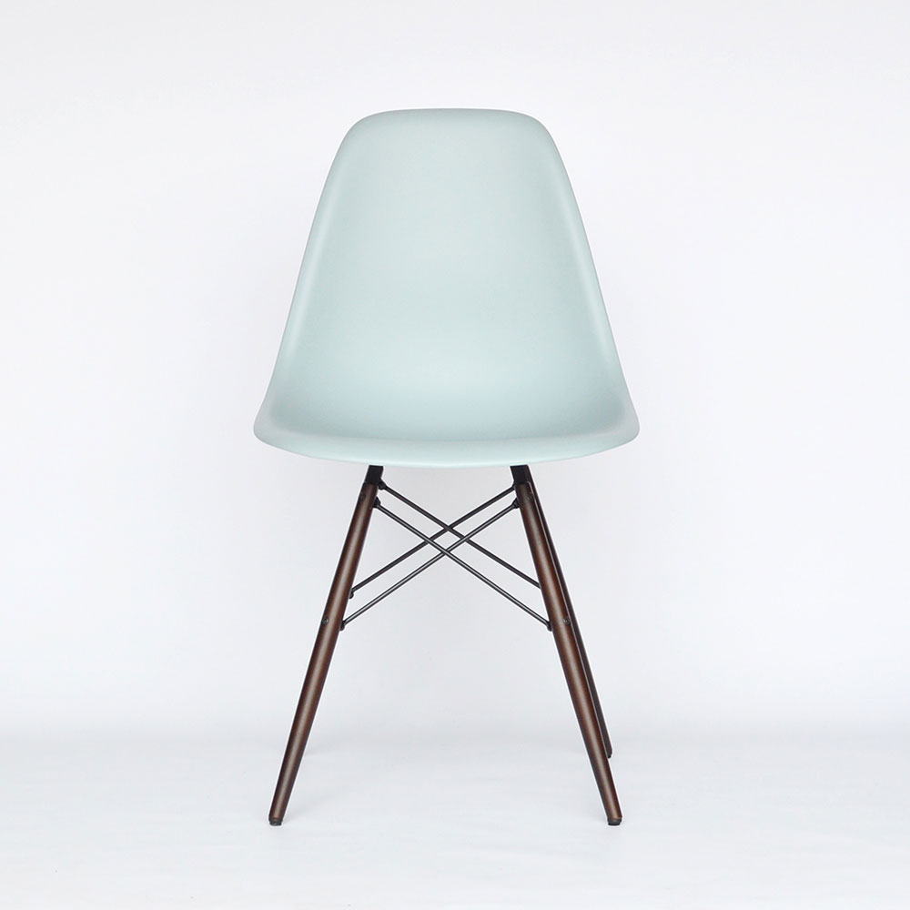 Eames plastic chair vitra - Midmodern Vitra Eames Plastic Side Chair Dsw Grey New Height