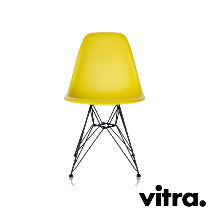 MidModern Vitra Eames Plastic Side Chair DSR - Senfgelb (outdoor)