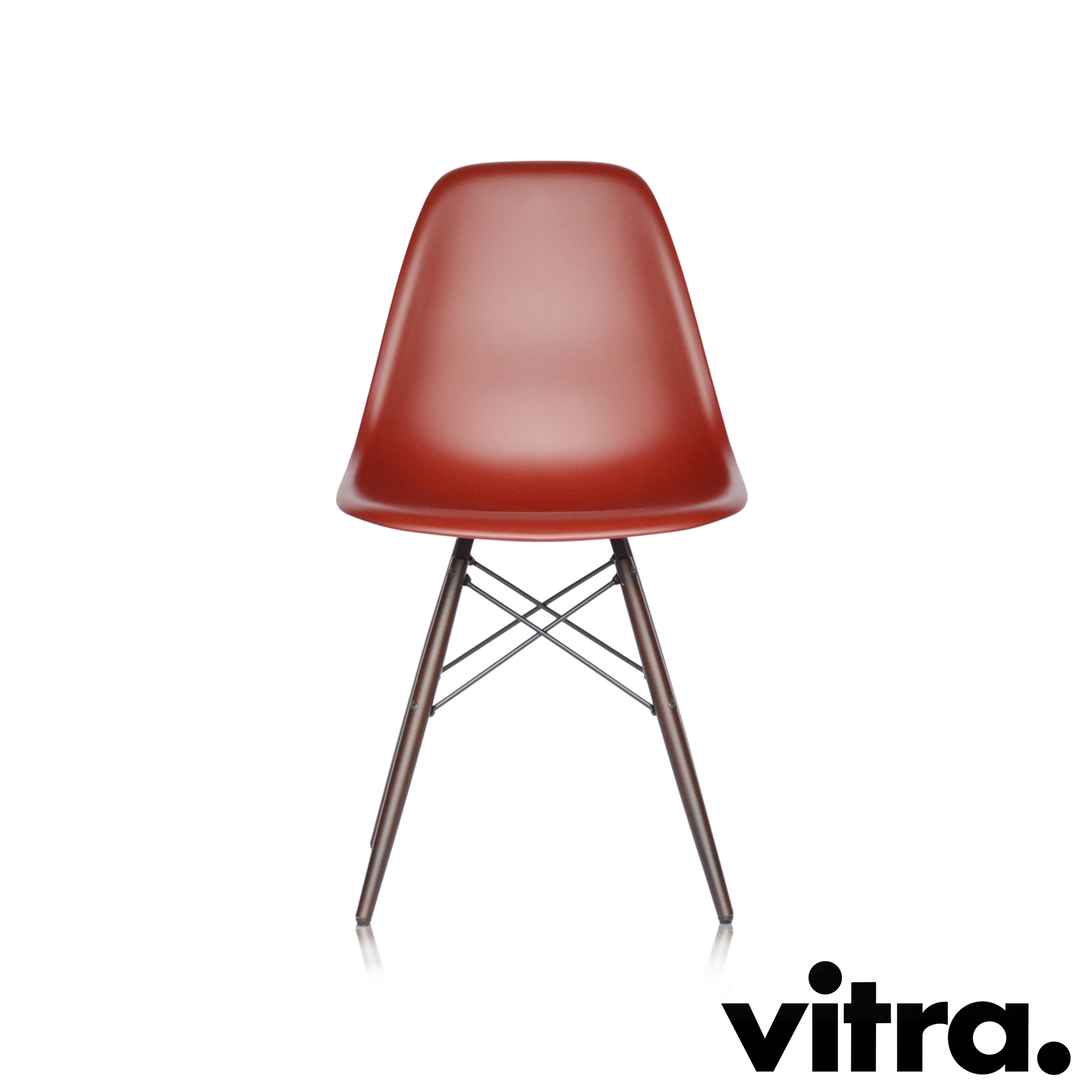 vitra eames plastic side chair dsw oxidrot ahorn midmodern. Black Bedroom Furniture Sets. Home Design Ideas