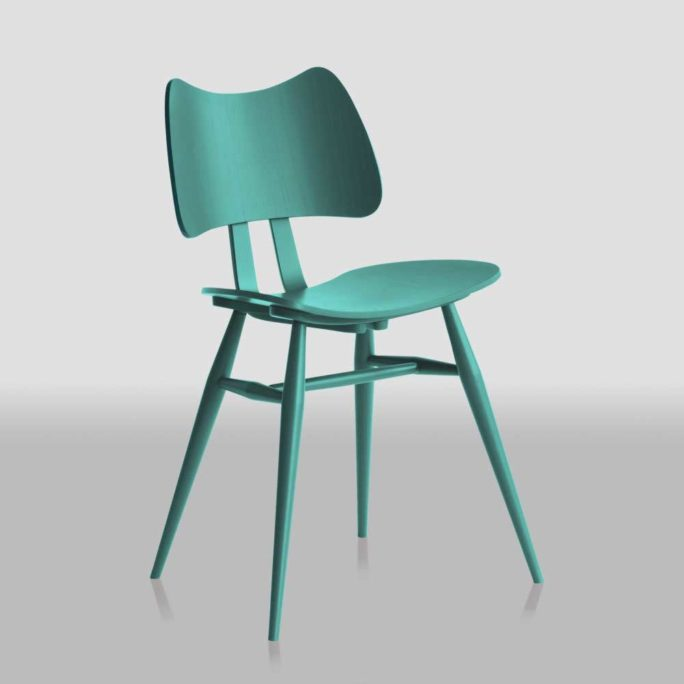 MidModern Ercol Butterfly Chair Oceanic