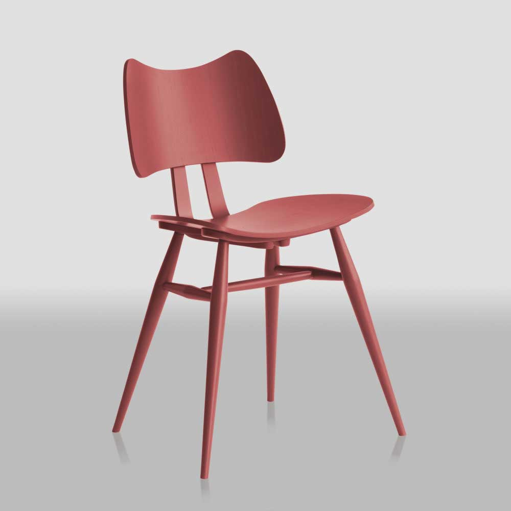 MidModern Ercol Butterfly Chair Rosso