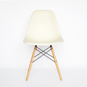 MidModern Vitra Eames Side Chair DSW - Creme (Neue Höhe)