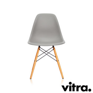 MidModern Vitra Eames Plastic Side Chair DSW - Mauve & Ahorn, gelblich (Neue Höhe)