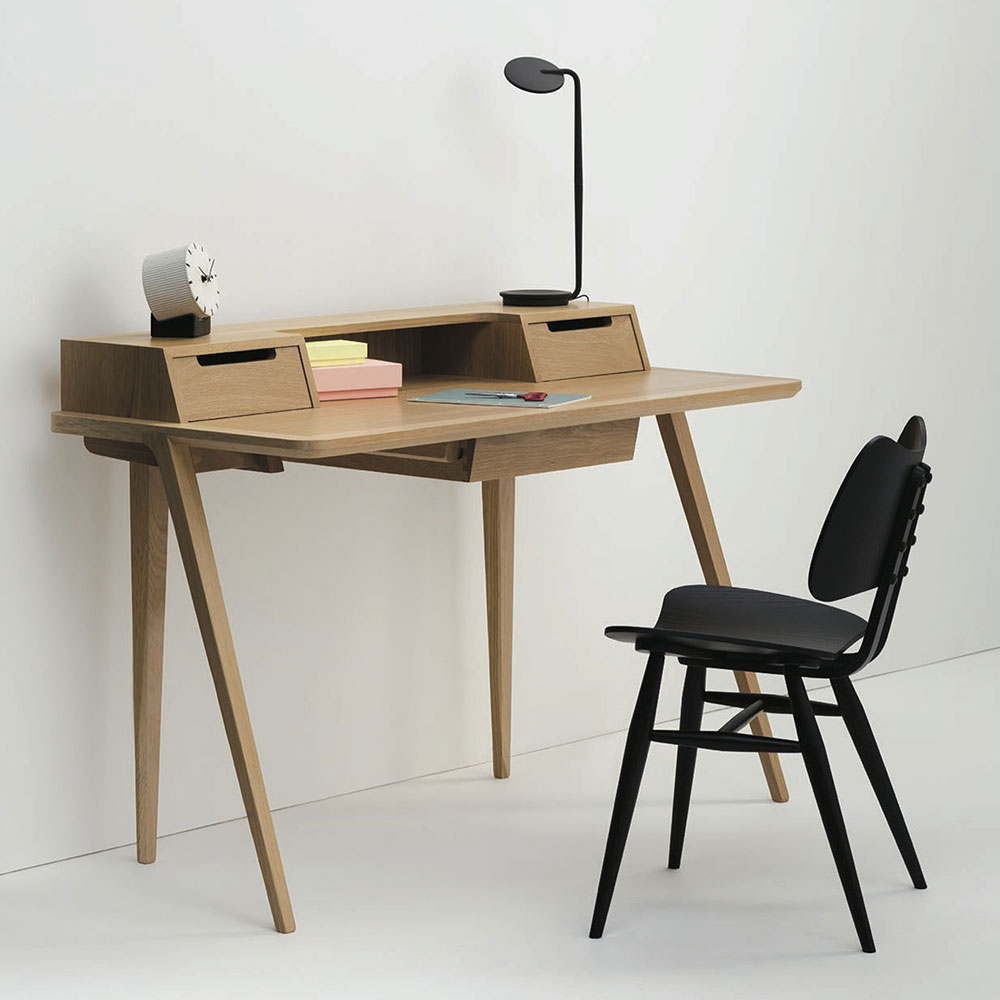 ercol treviso desk home designer schreibtisch aus eiche oder walnuss. Black Bedroom Furniture Sets. Home Design Ideas