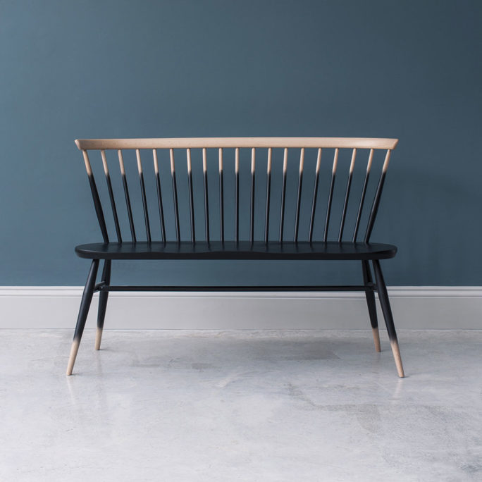 MidModern Ercol Bank Loveseat