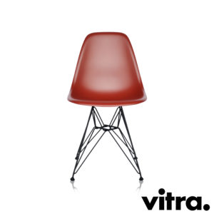 MidModern Vitra Eames Plastic Side Chair DSR - Oxidrot outdoor (Neue Höhe)