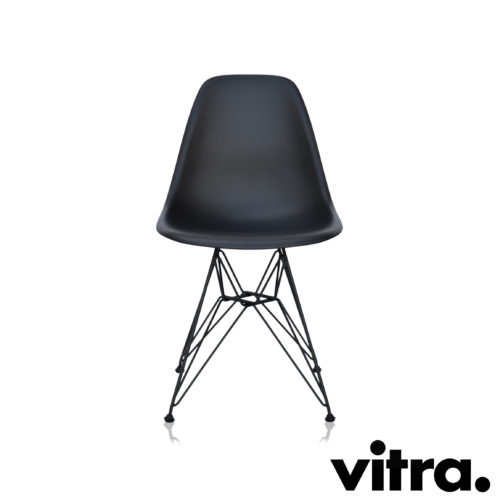 MidModern Vitra Eames Plastic Side Chair DSR - Basic Dark outdoor (Neue Höhe)
