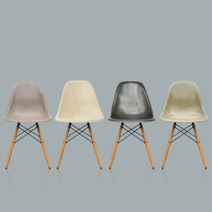 MidModern Vintage Eames Dining Chairs DSW - Fiberglass Dowel Base