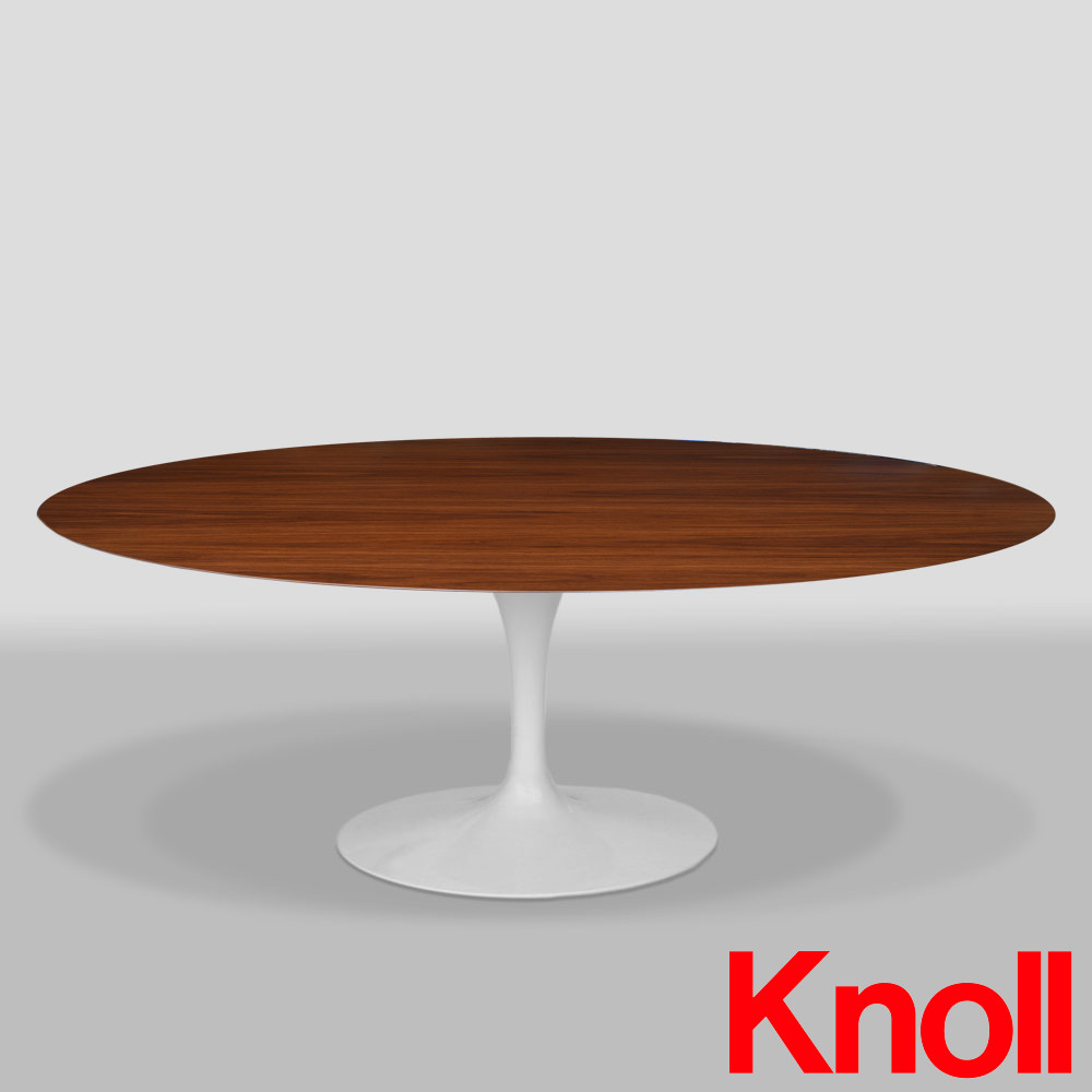 knoll saarinen tulip esstisch oval 198 x 121 cm nuss. Black Bedroom Furniture Sets. Home Design Ideas