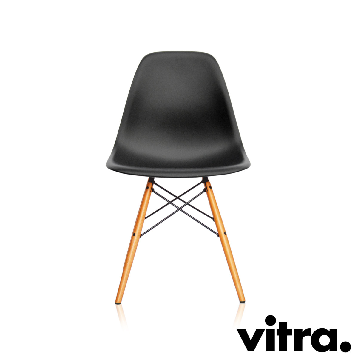 vitra eames side chair dsw schwarz ahorn g nstiger bei. Black Bedroom Furniture Sets. Home Design Ideas
