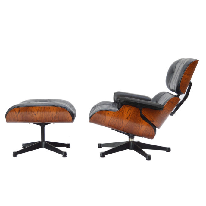 MidModern vintage Eames Lounge Chair & Ottoman Palisander