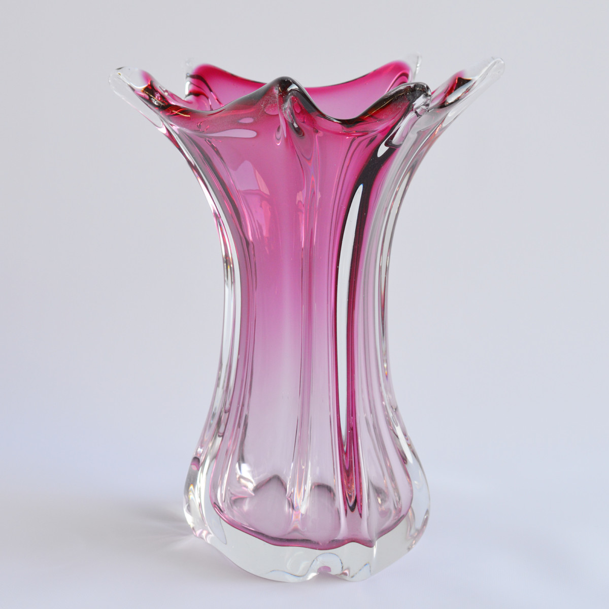 seltene murano glas vase 1960er im design sortiment midmodern. Black Bedroom Furniture Sets. Home Design Ideas