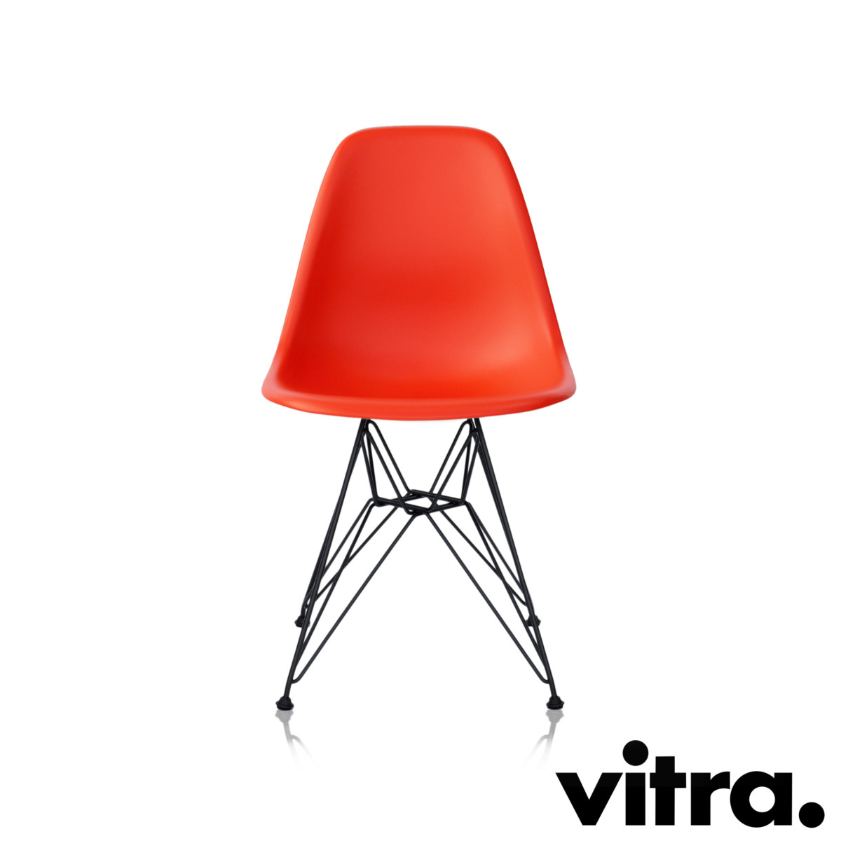 Vitra Eames Plastic Side Chair DSR Poppy Red (outdoor)