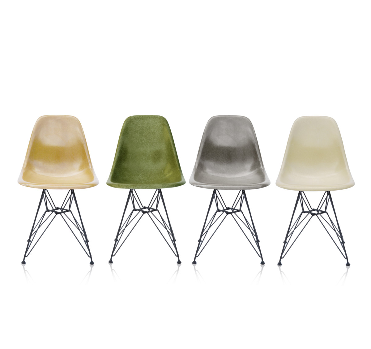 About A Chair 12 Side Chair.Vintage Eames Fiberglass Side Chairs Dsr Set 12 In Our Design