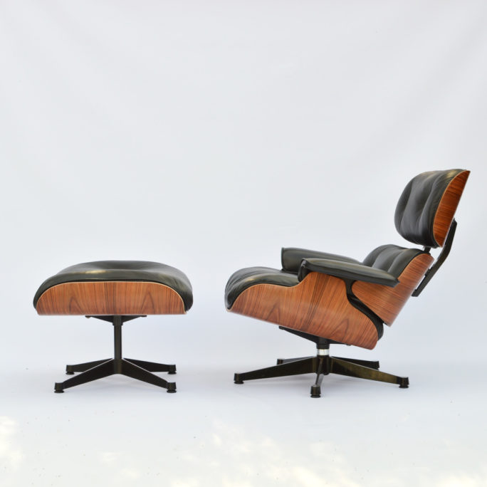 MidModern vintage Eames Lounge Chair & Ottoman Palisander Herman Miller by vitra (Fehlbaum)