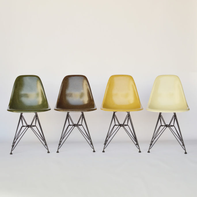 MidModern Eames Fiberglass Side Chair DSR - Set #4